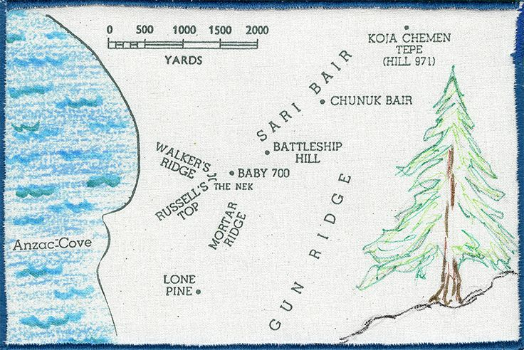 Lone Pine, ANZAC Cove .. by Pamela Barber