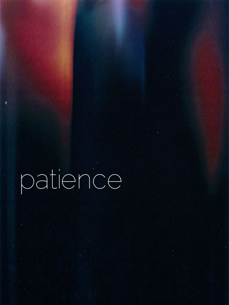 .patience { fruit of the spirit series }