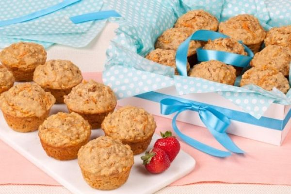 Our carrot oatmeal muffins are great for breakfast on the go or as a late-morning snack. Photo by Leila Ashtari.