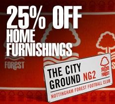25% off home furnishings.