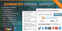 It's Here! The all new Advanced Social Widget WordPress plugin v2.0. Awesome new features  - Drag & drop social networking icon sorting.  - Detailed easy to understand documentation.  - Fully customizable widget options.  - Built-in plugin update notification. Be notified of future plugin updates.  - Plus many many more features.  Check it out.