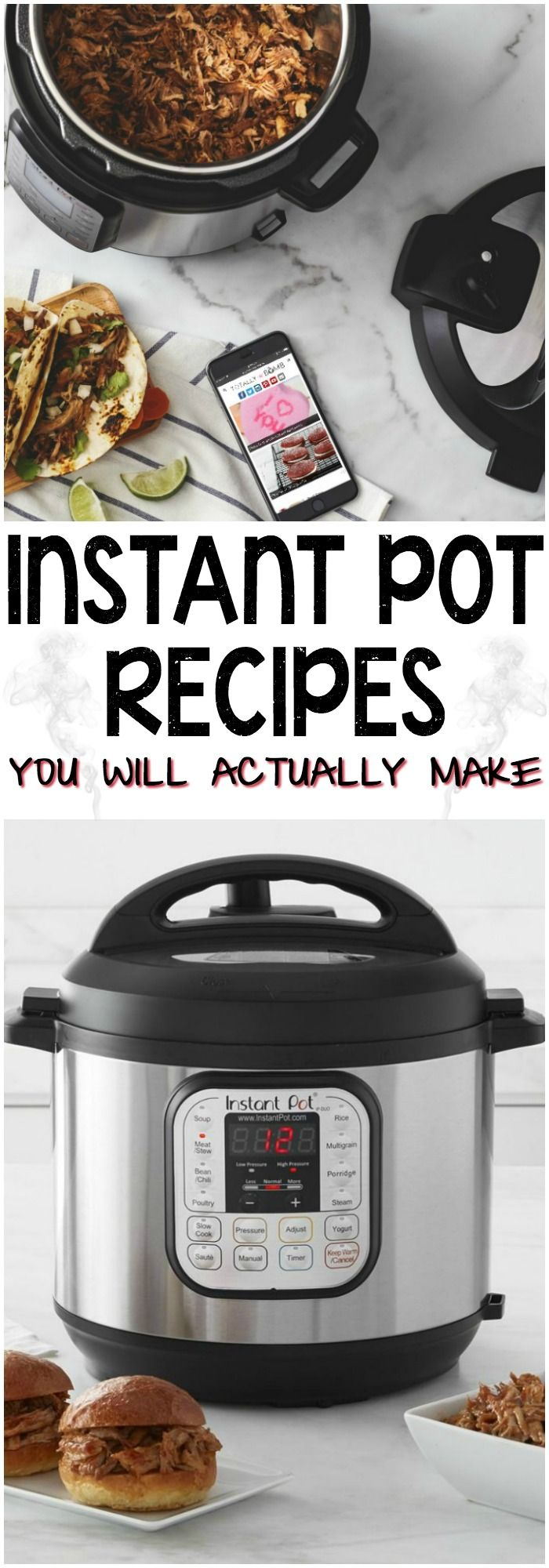 Fast food doesn't have to come from a drive-thru window. These 25 Instant Pot recipes are fast recipes you will actually make! Enjoy! | #InstantPot #Instapot #pressurecooker #pressurecooking #fastfood #recipes #pressure #steam #favorites #familyfavorites