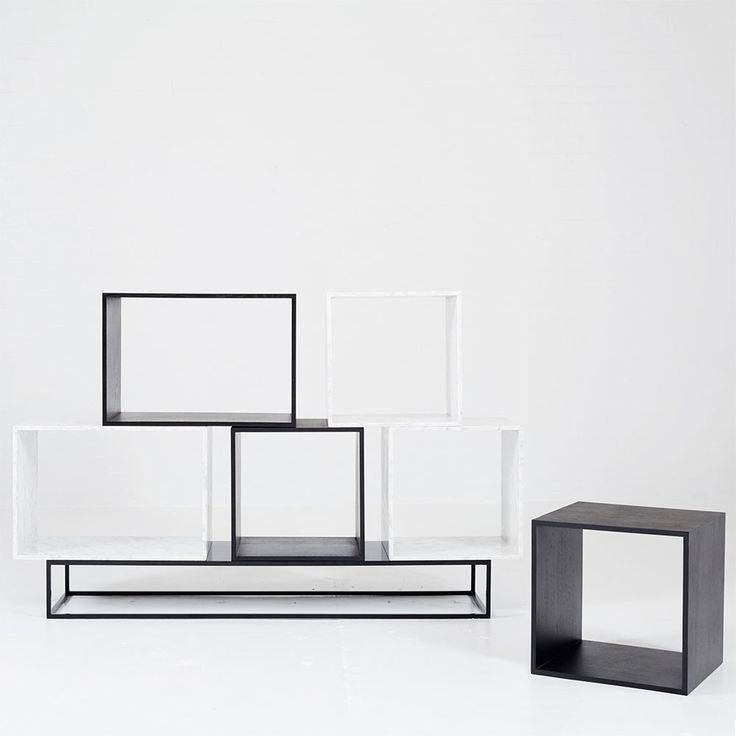Shop online this designer Boxy Modular Cube Storage Unit in solid American Ash timber and Italian Carrara Marble. An ideal bookcase and shelving piece.