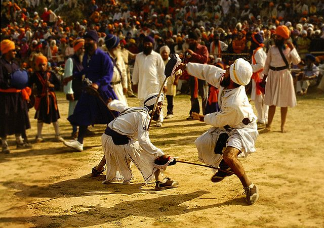 """In the Indian Subcontinent, a weapon based Punjabi martial art sport is very popular which is typically associated with the Sikh community. This is known as """"Gatka"""" which is also practiced in some parts of Pakistani Punjab. The weapons are obviously not guns or swords but the wooden sticks that were traditionally being used for sparring. Gatka is mainly a part of many Sikh festivals as combat sport and it has rarely been used in original fights."""