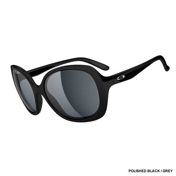 oakley womens dangerous asian fit sunglasses  oakley women's backhand sunglasses polished black / grey lens oo9178 01