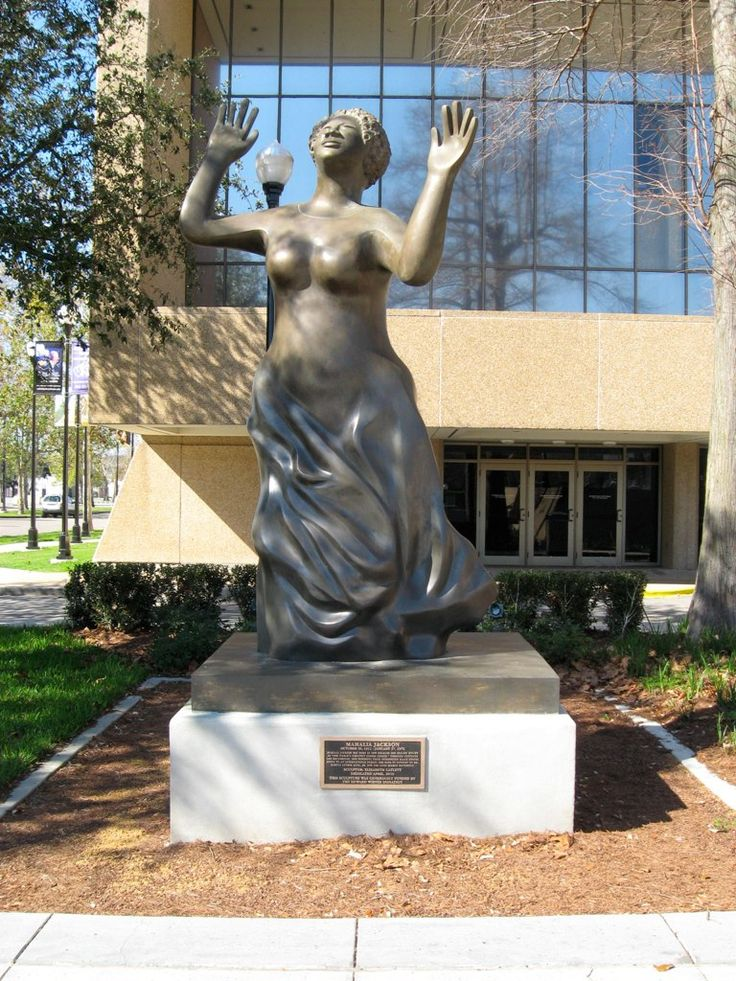Mahalia Jackson statue, Louis Armstrong Park, NOLA ...