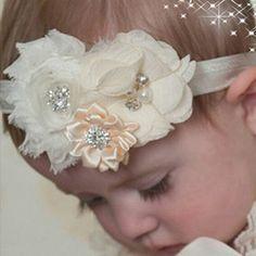 Baby Headband Hair Bowknot lace Headbands Infant Hair Accessories Girls grosgrain ribbon Bow Headband Toddler hair bands w--037