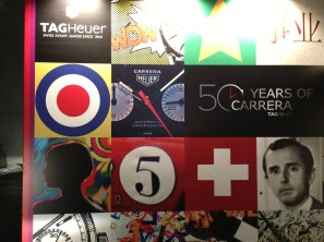 """Entrada principal al evento con motivo de la celebración """"50 Years of Carrera"""""""