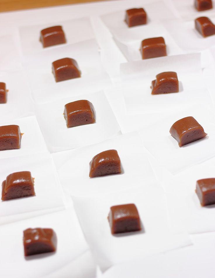 Caramelos de toffee caseros