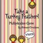 This fun multiplication game is for 2-3 players. Students practice their multiplications facts- ones through sixes- while they play the game.   Six pages of colored feathers are included. Black and white feathers are also included to save your printer's color ink! You can have your students color the black and white feathers, too, if you prefer.