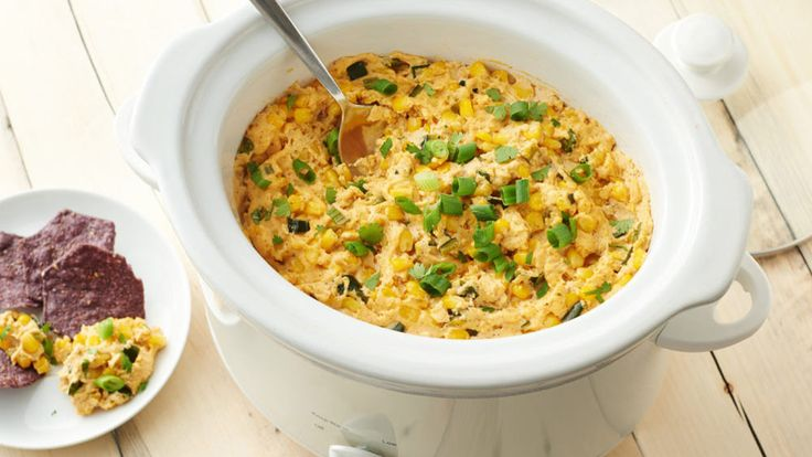 This spicy hot corn dip is sure to be a hit for game day or happy hour.