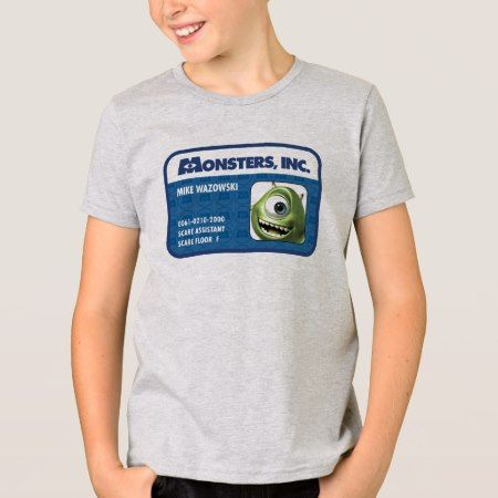 Monsters Inc. Mike Wazowski employee ID card T-Shirt - tap to personalize and get yours