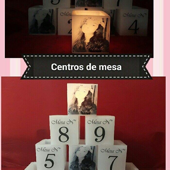 Centros de mesa #15años #velas #fanales #souvenir #pimpollitovelas