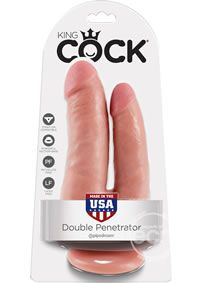 Kc Double Penetrator Flesh - Do you want your first dildo to look and feel just like the rock-hard stud you`ve always fantasized about? Stop dreaming and get down with the King! Every vein, every shaft, and every head is carefully handcrafted with exquisite detail to give you the most realistic experience ever imagined. The powerful suction cup base sticks to nearly any flat surface and makes every dildo harness compatible. Made in Pipedream`s state-of-the-art rubber manufacturing f...