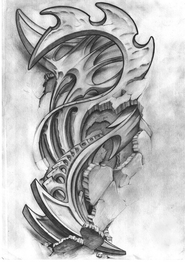 Sketches For New Tattoos Biomechanical Tattoo Design Biomechanical Tattoo Bio Organic Tattoo