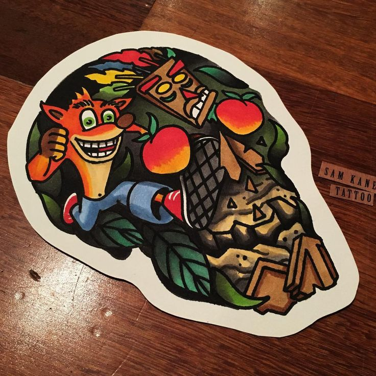 156 best images about video games on pinterest legends for Crash bandicoot tattoo