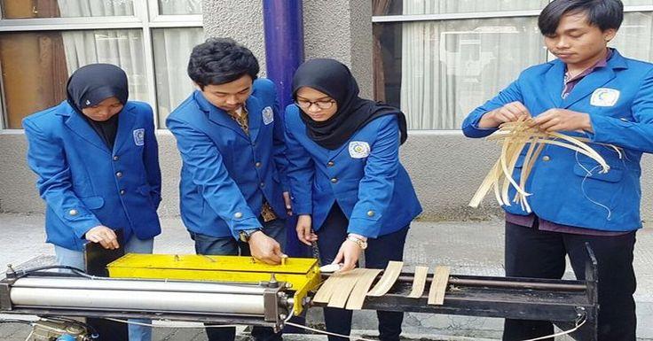 Mahasiswa ITS Kembangkan Mesin Penyayat Bambu