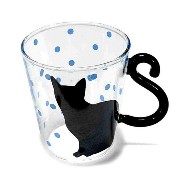 gattosa tazza in vetro    www.gattosi.com