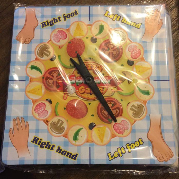 """Twister-spel in thema """"pizzeria"""", linkervoet op de salami.... Te vinden bij Action!"""