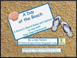 FREE - generic beach-themed game board. Add your own flashcards and use it to practice any skill!