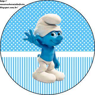 Montando minha festa: Os Smurfs 2 - Meninos