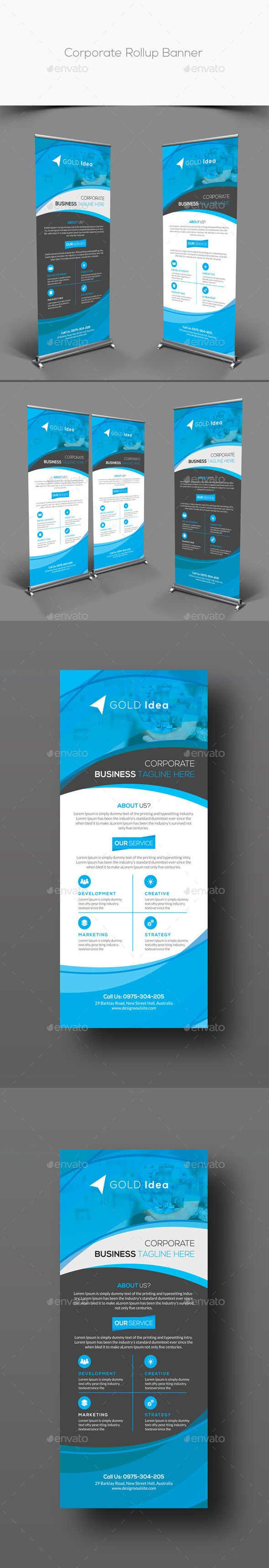 Corporate Rollup Banner Template #design Download: http://graphicriver.net/item/corporate-rollup-banner/12604946?ref=ksioks