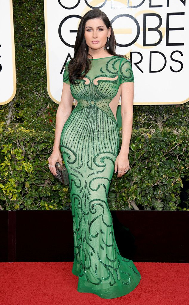 Trace Lysette from 2017 Golden Globes Red Carpet Arrivals - I honestly don't know who this is, but I LOVE her dress!!!