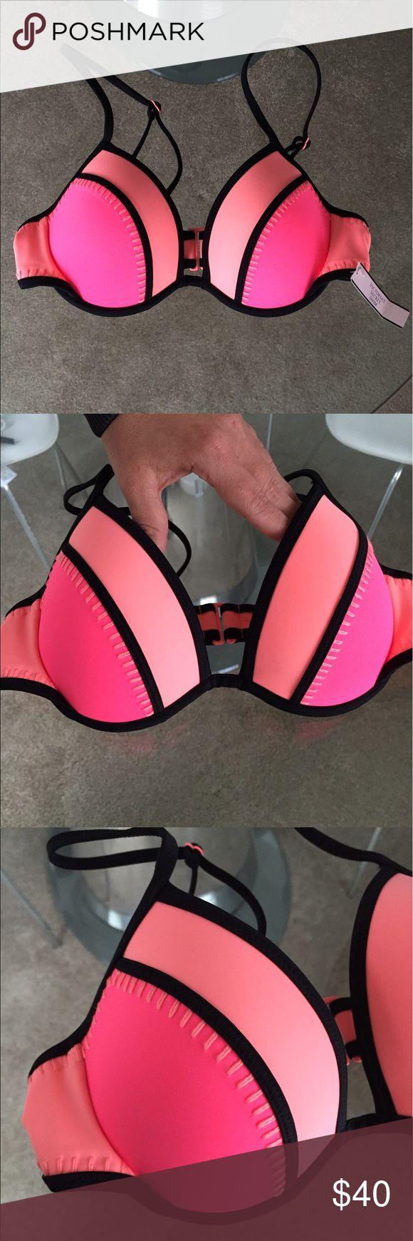 ️NWT Victoria Secret Swim Push-Up Top Brand new with tagsPadded push up swim top ️Size 32CCrochet on rims Victoria's Secret Swim Bikinis