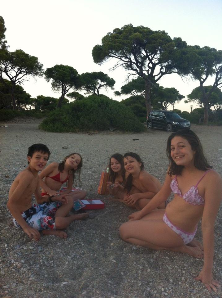 George's birthday on the beach