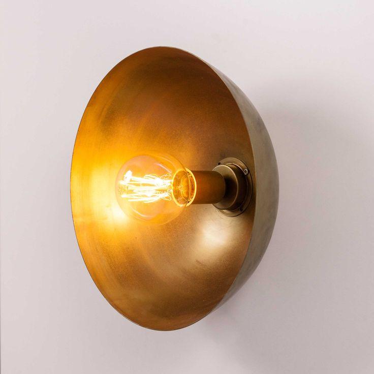Aplique pared vintage media esfera  35cm  bombilla filamento