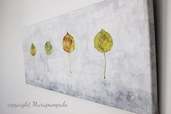 """""""Perhepotretti"""". Kristiina Mäkimattila, 2015. Akryyli kankaalle.  """"Family portrait"""". Kristiina Mäkimattila, 2015. Acryl on canvas."""