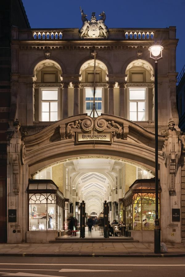 The Burlington Arcade, built in 1819, is located in Londons Mayfair district, an area known for its luxury shopping destinations and hotels....