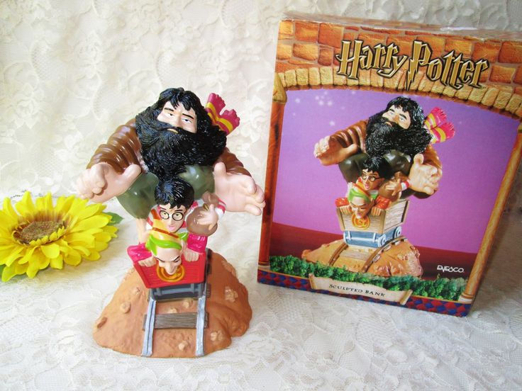 Harry Potter Sculpted Bank Collectible Piggy Bank Enesco. This is a vintage bank new in the box and never used. It is made of plastic…