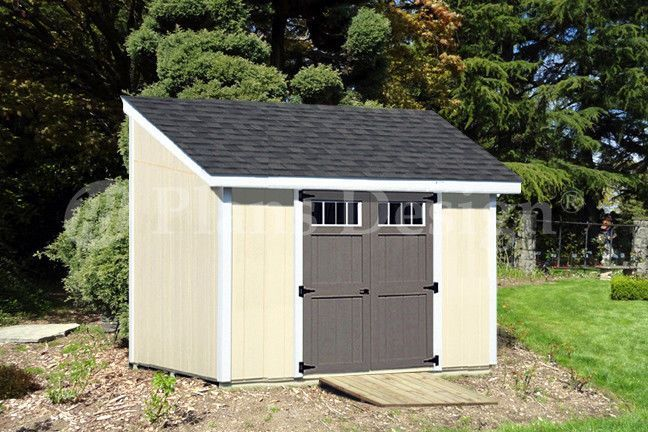 Details About 8 X 10 Deluxe Shed Plans Lean To D0810l Material List Instructions Drawing Backyard Sheds Diy Shed Plans Building A Shed