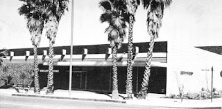 Saks Fifth Avenue - Palm Springs (#10), 490 South Palm Canyon Drive, Palm Springs, CA (1959-1985).  This store was replaced by a larger 2-level store in 1985 located at The Desert Fashion Plaza Mall (#58), also in Palm Springs.  This store closed around 2002.  Courtesy of The Department Store Museum: Saks Fifth Avenue, New York City, New York