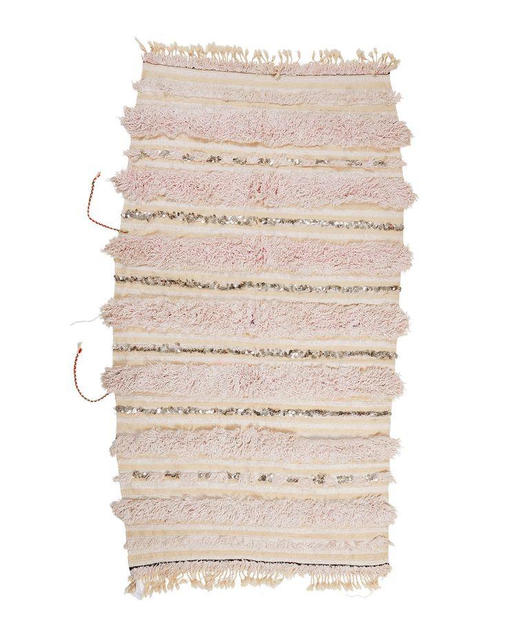 "Briar Rose. 3'6"" x 5'6"" Handira Moroccan Wedding Blanket"