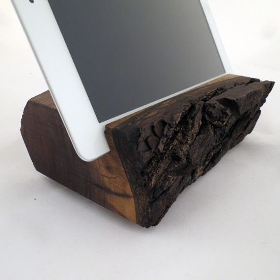 Wood Walnut Handmade iPad Stand from Grant Stands & Co  Things like this make me think my uncle he loved to make and build things nothing like hanging out in his shop with him and the smell of fresh cut wood : )