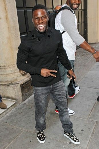 Love these sneakers on Kevin Hart