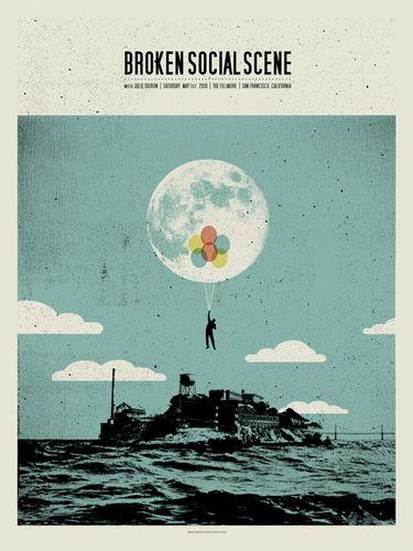 Broken Social Scene San Francisco Concert Poster By Concepcion Studios