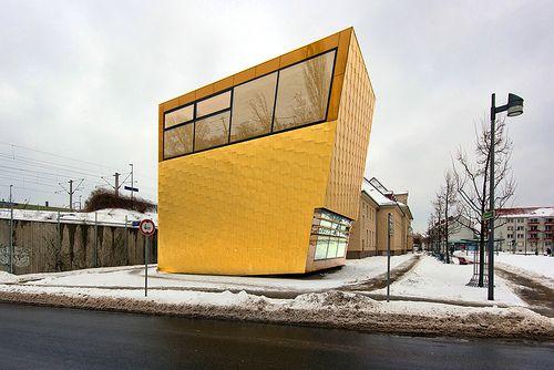 Luckenwalde Town Library designed by FF Architekten & Martina Wronna. Luckenwalde