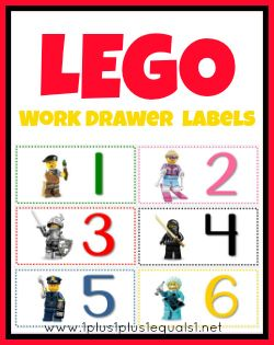 1+1+1=1...Workbox Drawer Labels Lego