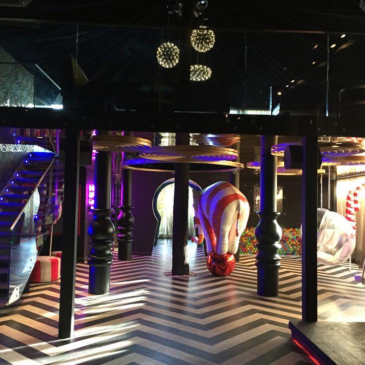Circus Club Ortakoy Istanbul Turkey #night #club #circus #interior #design #elephant #candy #zigzag #alice in wonderland #key hole by Gsc Design | Interiors | Atelier