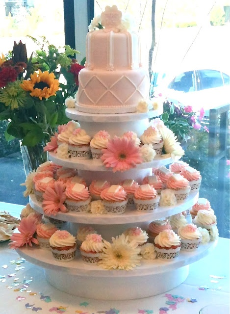 Baby shower cupcake display ideas