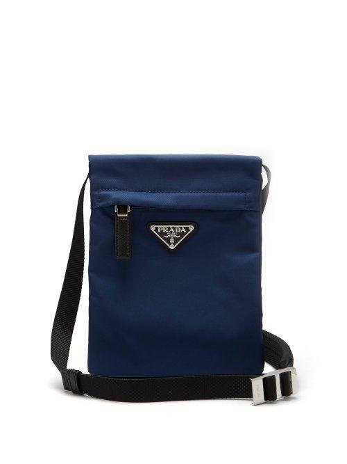 5de269bee5623e PRADA PRADA - NYLON CROSS BODY BAG - MENS - NAVY. #prada #bags #shoulder  bags #leather #nylon