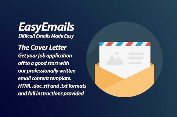 Cover Letter Email Content Template by amplifiii on @creativemarket