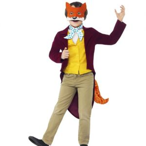 This Four Piece Roald Dahl Fantastic Mr Fox Costume is a brilliantly memorable fancy dress idea that's ideal for World Book Day or just for a bit of dressing up fun. From our Roald Dahl Collection, this Costume includes a red velveteen jacket with attached yellow waistcoat with velcro fastening, an orange fluffy tail that attaches to the back of the jacket with velcro, a spotty cravat and character mask.  http://www.hawecroft.co.uk/age/kids/roald-dahl-fantastic-mr-fox