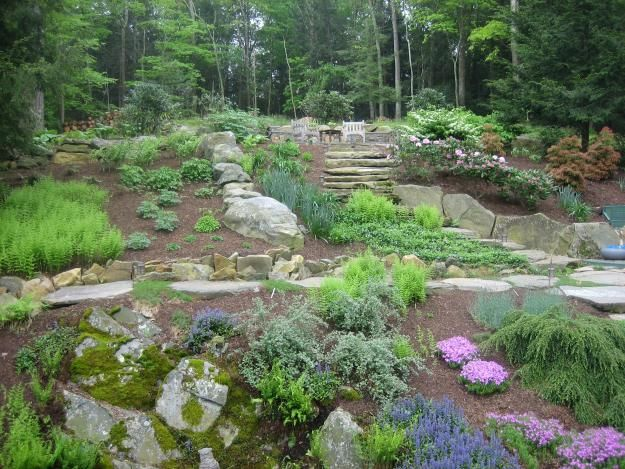 40 best images about terraced gardens on pinterest for Terraced yard ideas
