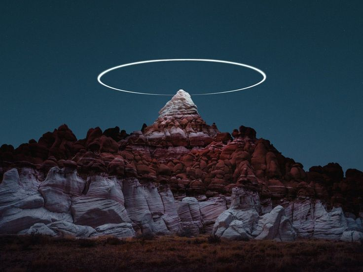 Photographer captures stunning landscapes lit by drones above the mountains - DIY Photography