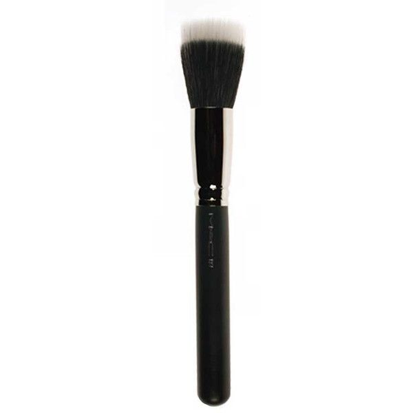 M·A·C Duo Fiber Face Brush #187 (52 CAD) ❤ liked on Polyvore featuring beauty products, makeup, makeup tools, makeup brushes, cosmetics, mac, women, face brush, mac cosmetics and face makeup brushes