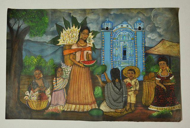 Zapotec Women Painting by Teyacapan, via Flickr